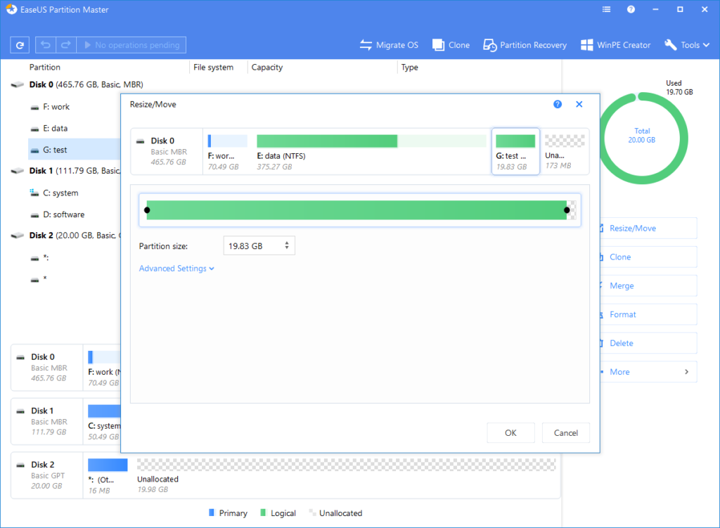 Download EaseUS Partition Master for Windows