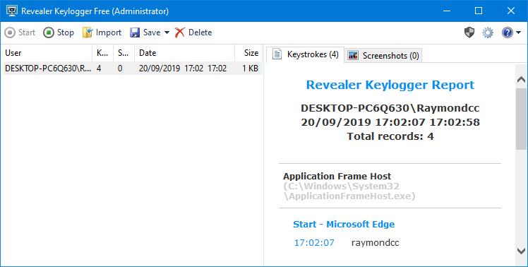 Download Revealer Keylogger for Windows