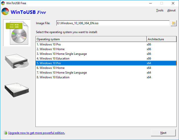 Download WinToUSB for Windows